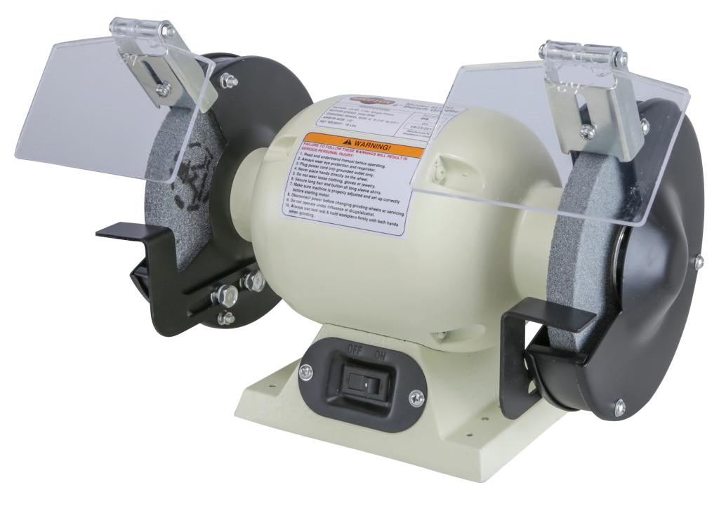 Shop fox m1051 6 inch bench grinder power rotary tools for Table grinder