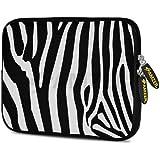 Amzer 7.75 Inch Neoprene Sleeve Zebra Stipes For Samsung GALAXY Tab 2 7.0, Google Nexus 7, Amazon Kindle Fire...