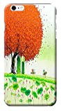 """HUAHUI Case / Cover Oil Painting Special Design Colorful Trees Cute Cell Phone Cases For iPhone 6 (4.7"""") Black Hard Cases No.2"""