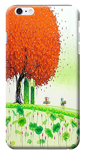 HUAHUI Case / Cover Oil Painting Special Design Colorful Trees Cute Cell Phone Cases For iPhone 6 (4.7) Black Hard Cases No.2