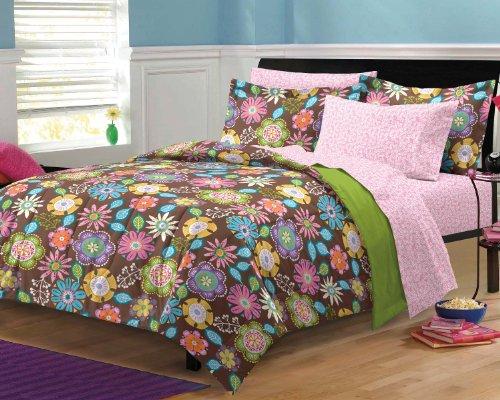 Dream Factory Boho Garden Ultra Soft Microfiber Girls Teen Bedding Comforter Set, Multi-Colored, Twin