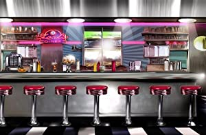 P1607019 Photo Wallpaper NonWoven American Diner Airbrush 50s