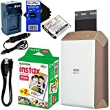 Fujifilm-instax-SHARE-Smartphone-Printer-SP-2-Gold-International-Version-Instax-Mini-Instant-Film-20-sheets-Rchrgbl-Battery-ACDC-Charger-HeroFiber-Gentle-Cleaning-Cloth