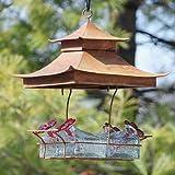 Parasol BW4SHCL Bouquet Basketweave Shelter Hummingbird Feeder Clear
