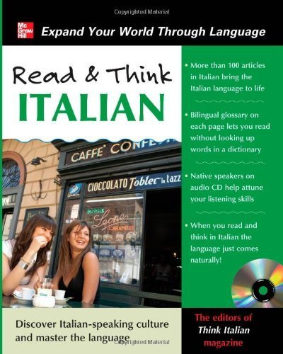 Read and Think Italian with Audio CD (Read & Think) by Think Italian! Magazine, The Editors Of (2011) Paperback