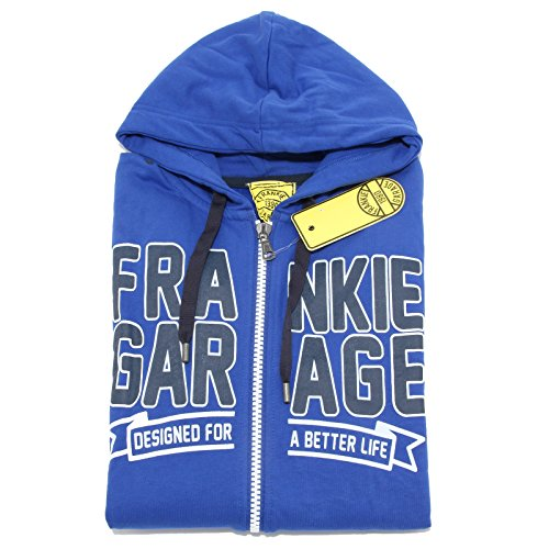 8808M felpa uomo FRANKIE GARAGE blu sweatshirt men [L]