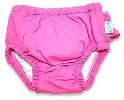 i play. Baby Girl\'s Ultimate Swim Diaper (Hot Pink, 6-12 M)