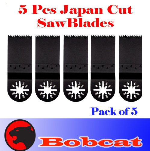 Pack Of 5 Japan Tooth Fast Cut Oscillating Multi Tool Saw Blade For Fein Multimaster Bosch Multi-X Craftsman Nextec Dremel Multi-Max Ridgid Dremel Chicago Proformax Blades front-967099