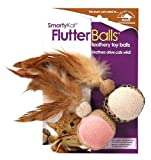 ❃ SmartyKat FlutterBalls 2-Pack Feathery Ball Cat Toy ❃