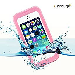 iPhone 5s Waterproof Case, iThrough Waterproof, Dust Proof, Snow Proof, Shock Proof Case with Touched Transparent Screen Protector, Waterproof Protection up to 20ft, Heavy Duty Protective Carrying Cover Case for iPhone 5/5s/4/4s (Pink)