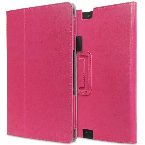 #>>  Fosmon OPUS Slim Leather Folio Cover Case with Stand, Hand-Strap, Card and Stylus Slots for Kindle Fire HDX 8.9