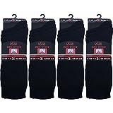 12 Paar Herren Großer Fuß Baumwolle Mit Lycra Schwarze Socken 44.5-47.5