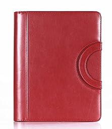 Kawayee Fashion Padfolio File Holders Women\'s Fashion PU Leather Padfolio Men\'s Fashion Business Travel Portfolio Red 340mm*270mm*40mm