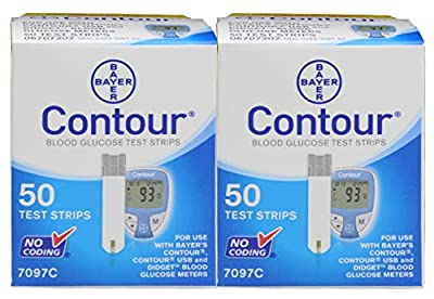 Bayer Contour Test Strips, 100 Count + 100 30g Lancets + 100 Alcohol Prep Pads