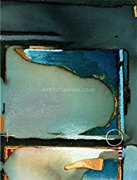 10W x 13H Shades of Blue by Craig Alan - Stretched Canvas w/ BRUSHSTROKES