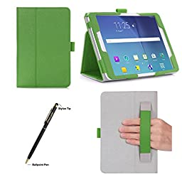 ProCase Samsung Galaxy Tab S2 8.0 Case - Stand Folio Cover Case for 2015 Galaxy Tab S2 Tablet (8.0 inch, SM-T710 / T715), with Hand Strap, auto Sleep/Wake (Green)