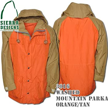 Washed Mountain Parka 3016: Orange / Tan