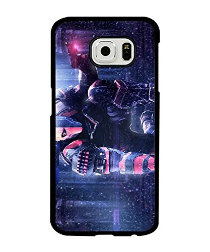 DC Comics Galaxy S6 Custodia Case, Deathstroke Personalized Snap On Creative Slim Compatible with Samsung Galaxy S6