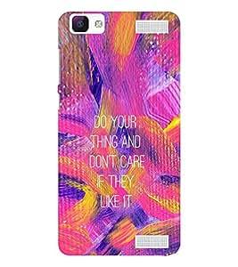 EPICCASE Don't Care Mobile Back Case Cover For Vivo V1 Max (Designer Case)