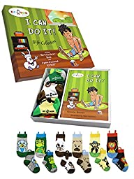Ez Sox Kids Socks Gift Box Collection, Boys, 2-3 Years