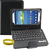 Dealgadgets Samsung Galaxy Tab 3 7.0 Inch Removable Detachable Wireless Bluetooth Keyboard Pu Leather Case Tablet Stand Style(samsung Galaxy Tab 3 7.0, Black)