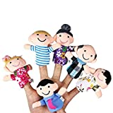 Generic 6 Pcs Family Finger Puppets Cloth Doll Baby Kids Educational Hand Toys Gift