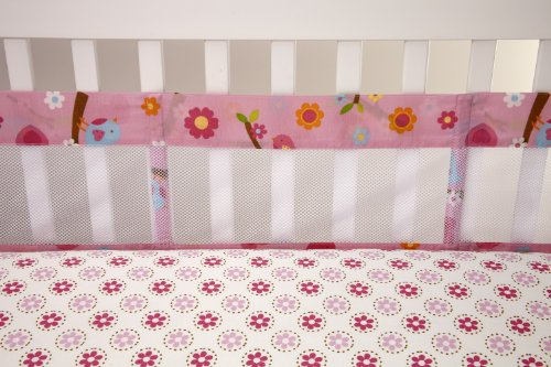 Little Bedding Secure Me Crib Liner, Sweet Lil Birds (Discontinued By Manufacturer) front-1058986