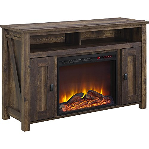 "Altra Accoutrements Farmington 50"" Media Heritage Pine Fireplace"