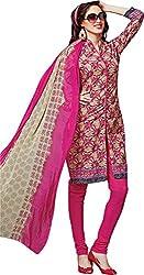 Sanvan Pink Printed Soft Cotton Salwar Suit Dress Material_SV253SF