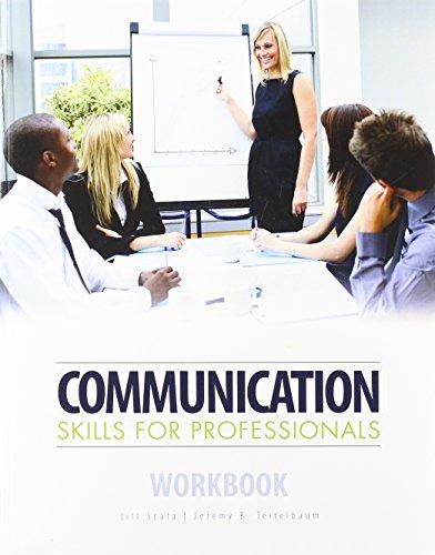 Communication Skills for Professionals Workbook