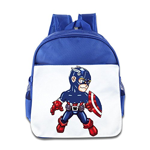 KimCartoon Power Man Boy Bags Outdoor Size Size Key RoyalBlue
