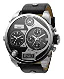 Diesel DZ7125 Gents Chrono Black Dual Display and Leather Strap Watch