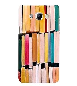 PrintVisa Books Pattern 3D Hard Polycarbonate Designer Back Case Cover for Samsung Galaxy J7 2016 Edition