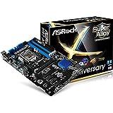 ASRock H97ANNIVERSARY Mainboard Sapphire Black PCB (DDR3 Speicher, 1 PCIe 3.0 x16, 5 PCIe 2.0 x1, 6x USB 2.0, 6x USB 3.0)