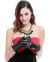 KURSHEUEL 9 color Women lady Italian Lambskin Leather winter warm Gloves KU125