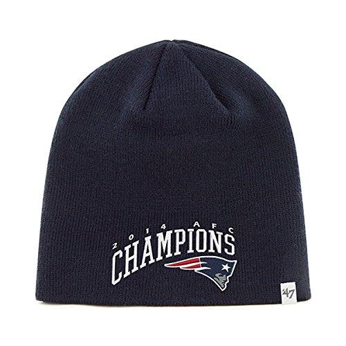 New England Patriots 47 Brand 2015 XLIX Super Bowl AFC Champions Hat Cap Beanie (Super Bowl Champions Winter Hat compare prices)