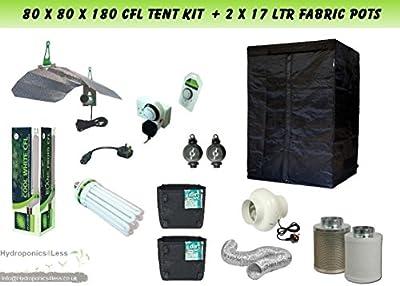 Best Complete CFL Hydroponic Grow Room Tent Fan Filter CFL Light Kit 80x80x180
