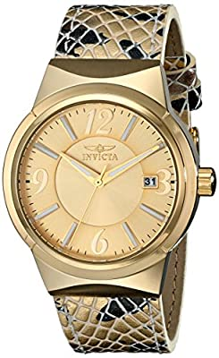 Invicta Women's 17296SYB Angel Analog Display Japanese Quartz Gold Watch