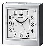 Seiko QHE123K Bedside Bell Alarm Clock, Black