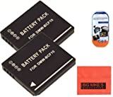 Big Mike'S Pack Of 2 Dmw-Bcf10 Batteries For Panasonic Lumix Dmc-Ts2 Dmc-Ts3 Dmc-Ts4 Dmc-F2 Dmc-F3 Dmc-Fh1 Dmc-Fh3 Dmc-Fh20 Dmc-Fh22 Dmc-Fs6 Dmc-Fs12 Dmc-Fs15 Dmc-Fs25 Dmc-Fs42 Dmc-Fs62 Dmc-Ft1 Dmc-Fp8 Dmc-Fx700 Digital Camera + More!!