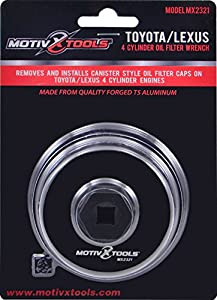 Toyota & Lexus Oil Filter Wrench Tool For 4 Cylinder Engines With 64mm Cartridge Style Filter Housings By Motivx Tools by Motivx Tools
