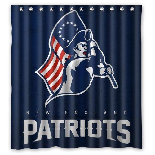 New England Patriots Tom Brady Custom Waterproof Fabric Bathroom Shower Curtain 66