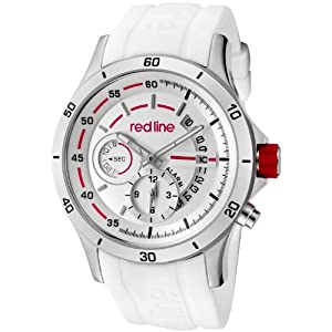 red line Men's 50021-02-WHT Tech Silver Dial White Silicone Watch