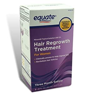 Equate - Hair Regrowth Treatment for Women with Minoxidil 2%, 3 Month Supply