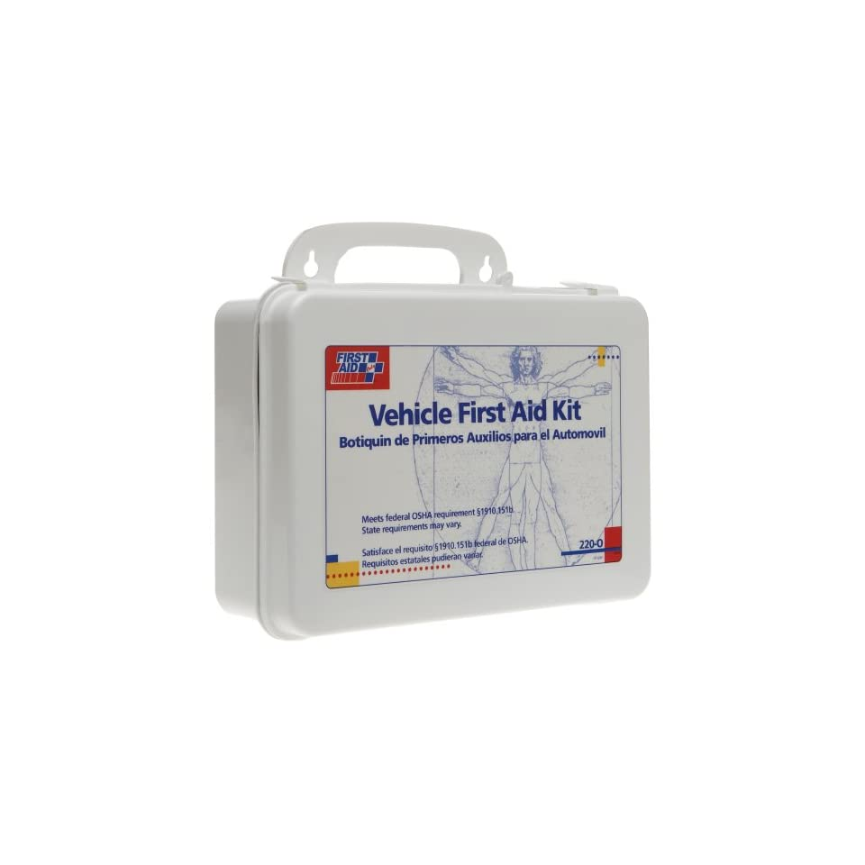First Aid Only Vehicle Bulk First Aid Kit, 85 Pieces, Plastic Case