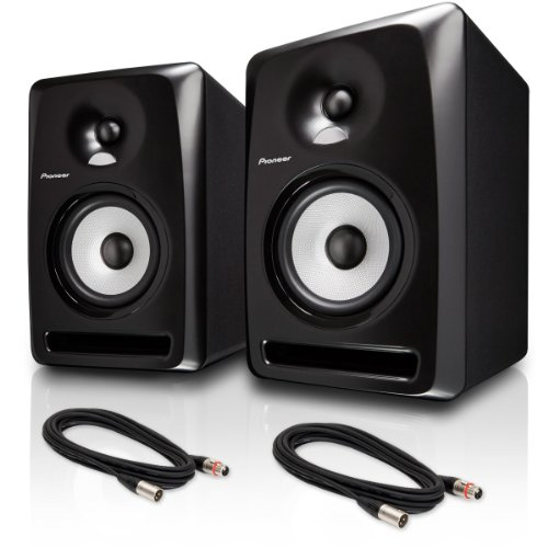 "Pioneer S-Dj80X 8"" Active Reference Dj Speakers, Black Pair W/ Xlr Cables - Bundle"