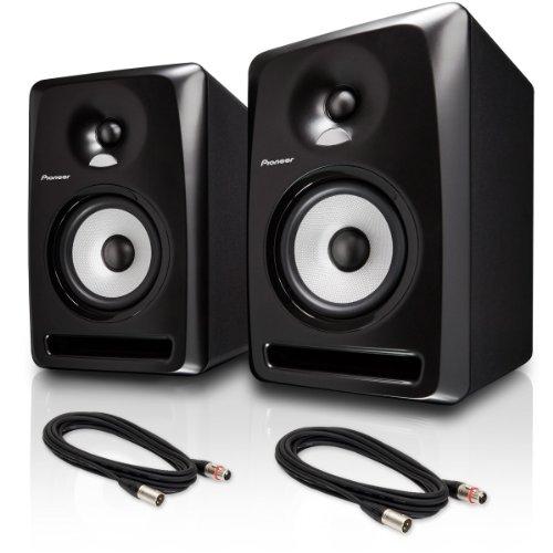 "Pioneer S-Dj60X 6"" Active Reference Dj Speakers, Black Pair W/ Xlr Cables - Bundle"