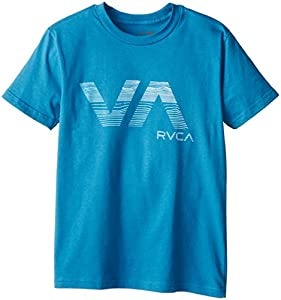 RVCA Big Boys' Wavy Va T-Shirt, French Blue, X-Large
