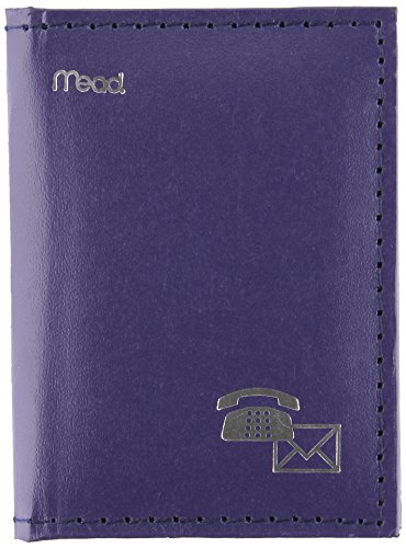 "Mead Mini Telephone Address Book,4"" X 3"" - Vinyl - Assorted front-651505"