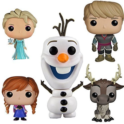 Disney Frozen Funko Pop Vinyl figure Bundle set Elsa, Anna, Olaf, Kristoff, Sven